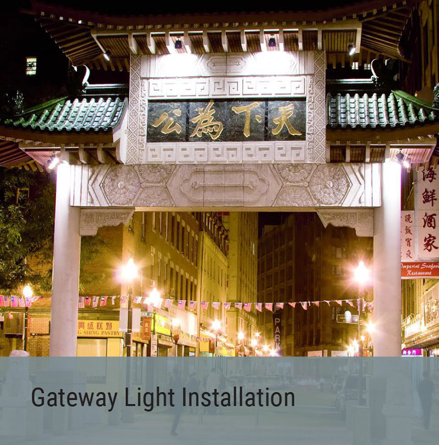 Outdoor Space Project - Gateway Light Installation