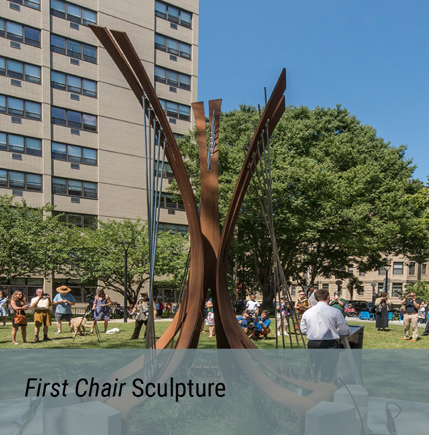 Public Art Project - First Chair Sculpture